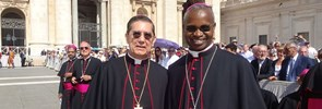 An official event in the Vatican was the occasion for the meeting of two close friends of PISAI, both recently nominated bishop by Pope Francis.